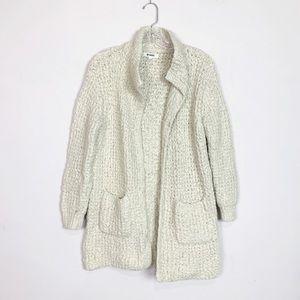 BB Dakota | nubby knit oversized cardigan grey S